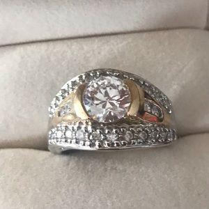 Jewelry - 14k Yellow & white Gold Men's Ring